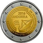 ANDORRA / ANDORRE 2 Euro 2016 TV & Radio / Delayed... Will be issued in may, sorry about, Andorra Mint problem.