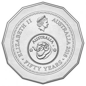 AUSTRALIA / AUSTRALIE 50 Cents 2016 50th Ann Decimal system