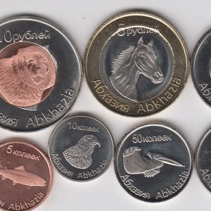 ABKHAZIA / ABKHAZIE Set 8pcs 2013, fantasy coinage