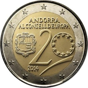 ANDORRA / ANDORRE 2 Euro 2014 Europe Council / Conseil de l'Europe