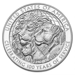 USA $1 2017P Argent/Silver, Lion's club 100th Ann