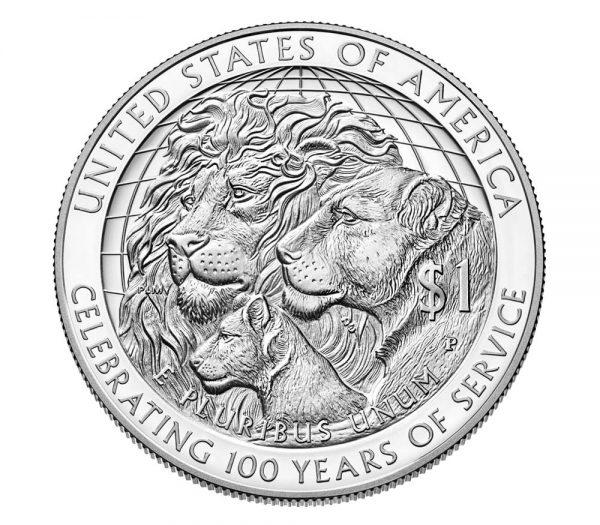 USA $1 2017P Argent/Silver, Lion's club 100th Ann