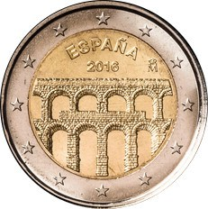 SPAIN 2€ Euro 2016 Segovia