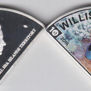 WILLIS island $10 2016 Colorized, unusual coinage
