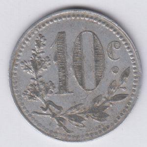 ALGERIA / ALGERIE 10 Centimes 1921 chambre de commerce d'Alger 1916 TB/Fine