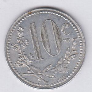 ALGERIA / ALGERIE 10 Centimes 1921 chambre de commerce d'Alger 1916 SUP/XF