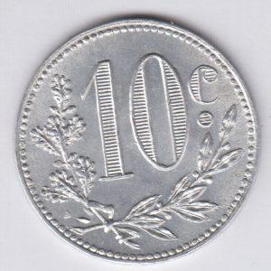 ALGERIA / ALGERIE 10 Centimes 1916 chambre de commerce d'Alger 1916 SUP+/XF+