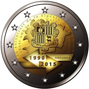 ANDORRA / ANDORRE 2 Euro 2015 Customs Union / Union douanière