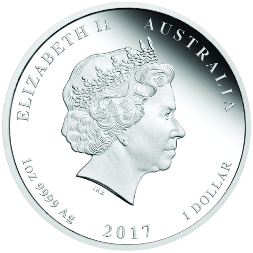 AUSTRALIA / AUSTRALIE $1 2017 Silver/Argent Year of the Rooster