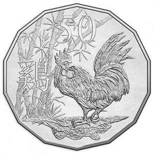 AUSTRALIA / AUSTRALIE 50 Cents 2017 Year of the Rooster / Année du coq