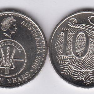 AUSTRALIA / AUSTRALIE 10 Cents 2016 50th Ann Decimal system