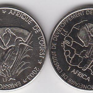 BENIN lot 5x 1500 CFA 2003 Buffalo
