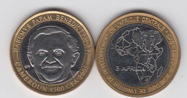 CAMEROON 4500 CFA 2005 Benedikt XVI x5pcs for dealer