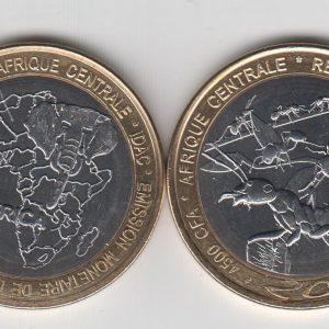 CHAD 4500 CFA 2015 Ants, unusual coinage