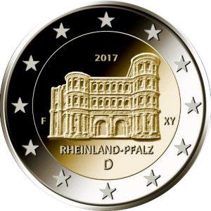 GERMANY / Allemagne 5x 2€ 2017 Rheinland-Pfalz, A D F G J