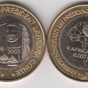 GUINEA 6000 CFA 2003 President Conte, x5pcs for dealer