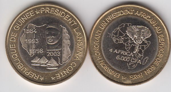 GUINEA 6000 CFA 2003 President Conte, x5pcs for dealer