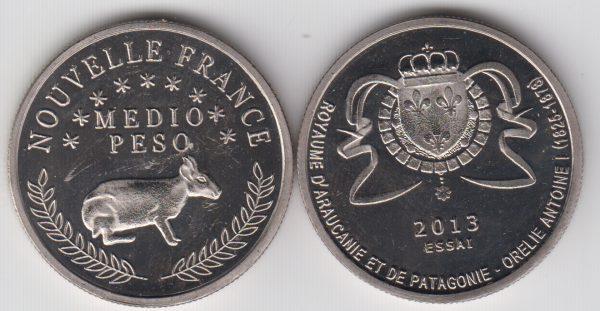 PATAGONIA / PATAGONIE ½ Peso 2013 Rabbit SPL/UNC