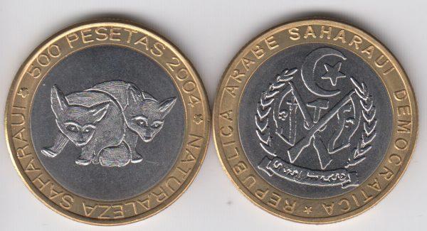 SAHARAWI lot 5x 500 Pesetas 2004 Feneck