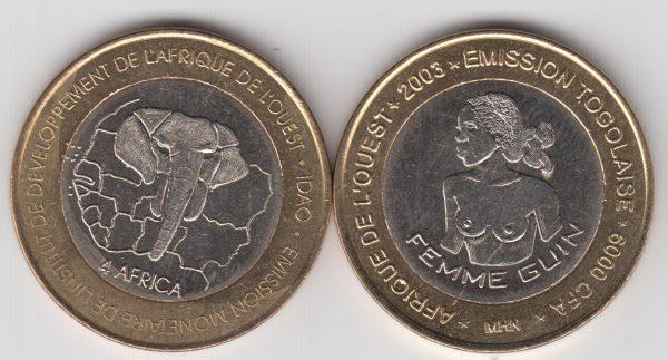 TOGO 6000 CFA 2003 Guin Woman