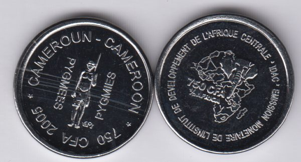 CAMEROON 750 CFA 2005 Cobalt, pygmees x10pcs for dealer