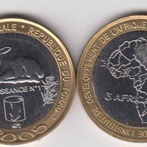 CHAD 4500 CFA 2005 Sheep, unusual coinage