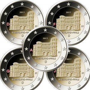 GERMANY 2€ 2017 Mint to be choosen ADFG or J – Rheinland-Pfalz