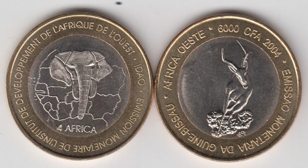 GUINEA BISSAU 6000 CFA 2004 Deer, x5pcs for dealer