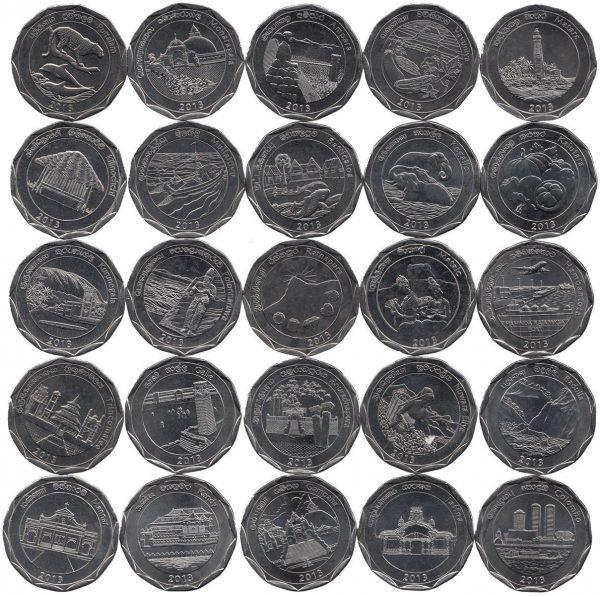 SRI LANKA Set 25x 10 Rupees 2013 Provinces