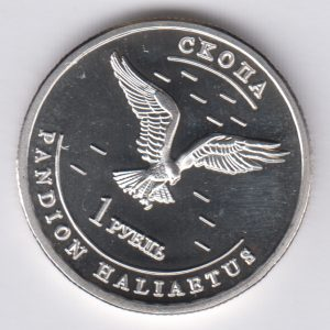 UDMURTIA 1 Ruble 2013 Bird, unusual coinage