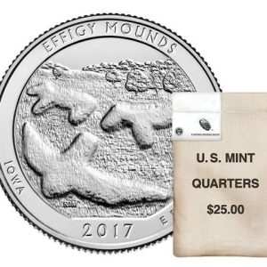 USA $¼ Effigie Mounds 2017D Bag of 100pcs