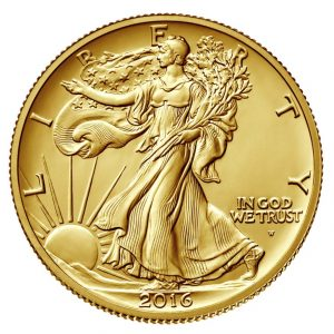USA Walking Liberty 2016 100th Ann Gold