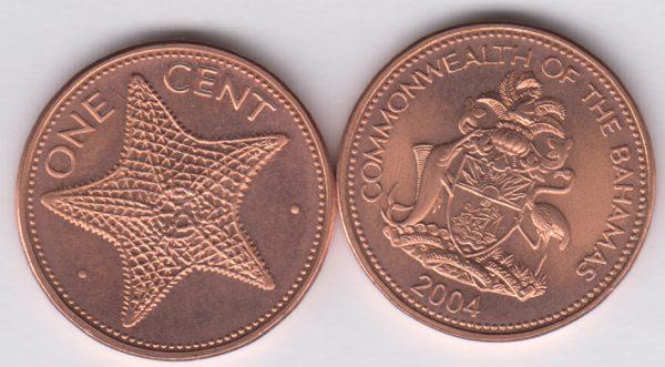 BAHAMAS 1 Cent 2004