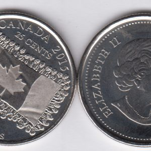 CANADA  lot 10x 25 Cents 2015 Flag