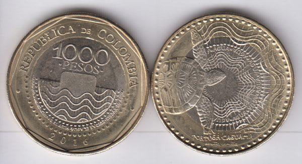 COLOMBIA 1000 Pesos 2016