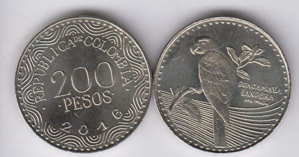 COLOMBIA 200 Pesos 2016