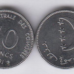 COMOROS 10 Francs 2001 UNC/SPL