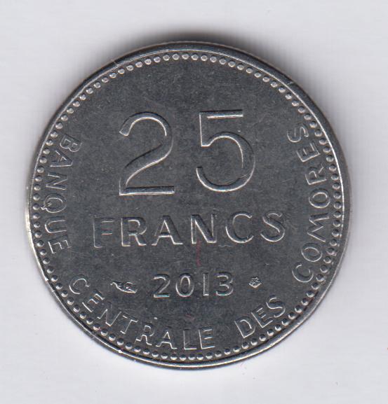 COMOROS 25 Francs 2013 UNC/SPL