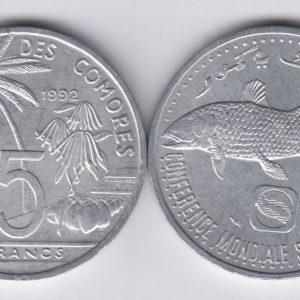 COMOROS 5 Francs 1992 UNC/SPL