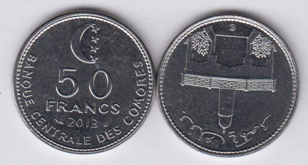 COMOROS 50 Francs 2013 UNC/SPL