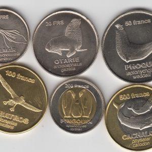 CROZET Set 9pcs 2013, unusual coinage