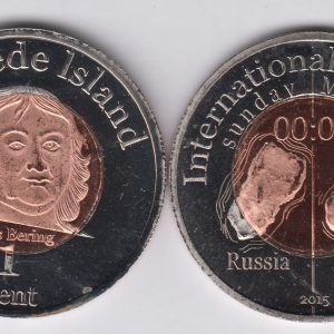 DIOMEDE 1 Cent 2015, unusual coinage