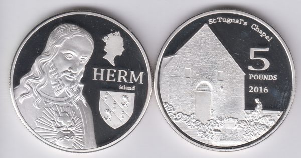HERM £5 2016, unusual coinage