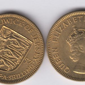 JERSEY ¼ Shilling 1957 UNC/SPL