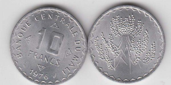MALI 10 Francs 1976 UNC/SPL