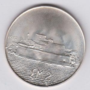 MALTA £m2 1972 silver