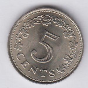 MALTA 10 Cents 1972