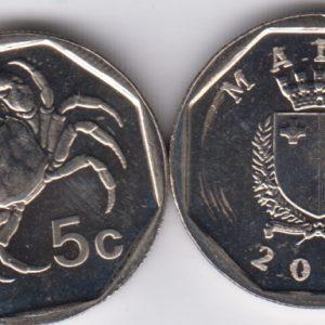 MALTA 5 Cents 2001