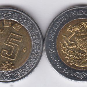 MEXICO 5 Pesos 2013