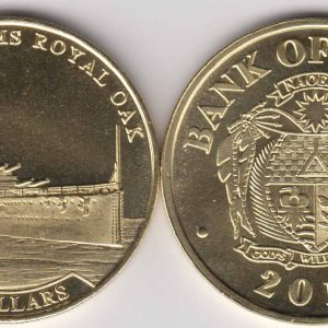 NAURU $5 2016 Ship HMS Royal Oak